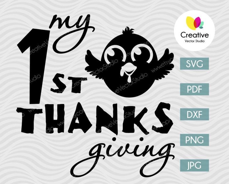 Little Turkey Thanksgiving svg