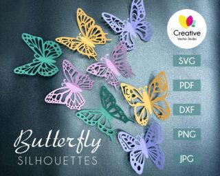 Beautiful Paper Butterfly SVG Bundle