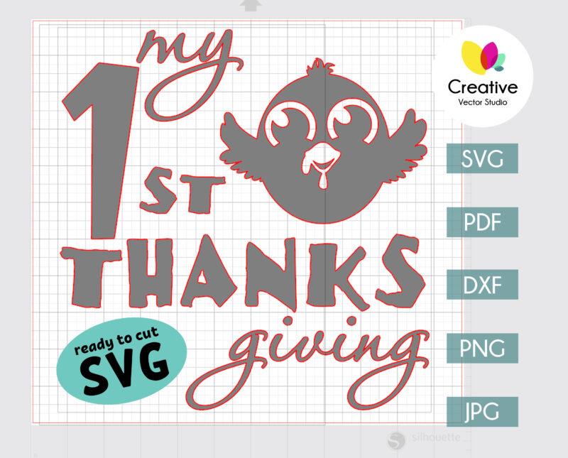 Thanksgiving Little Turkey svg ready to cut