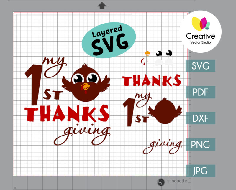 First Thanksgiving svg cut file