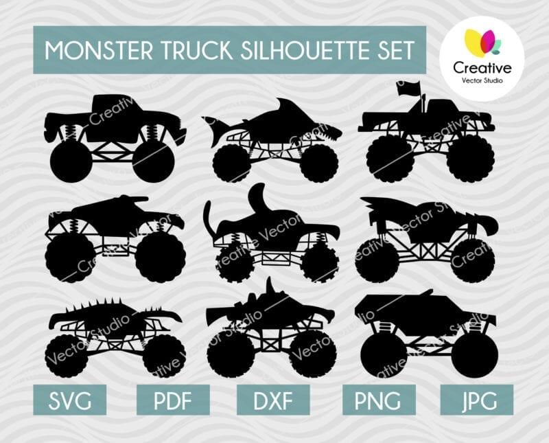 Monster Truck SVG Bundle #2
