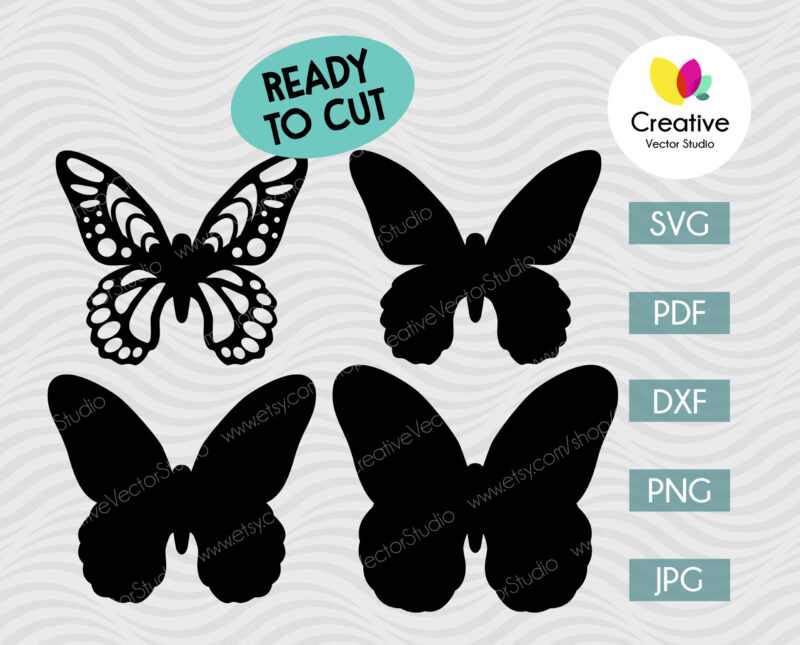 Layered Butterfly svg