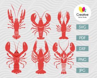 Crawfish svg bundle