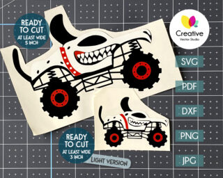 Dalmatian Monster Truck svg