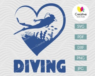 Love Diving svg