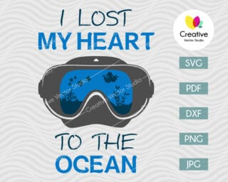 I lost my heart to the ocean svg