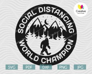 Social Distance World Champion SVG