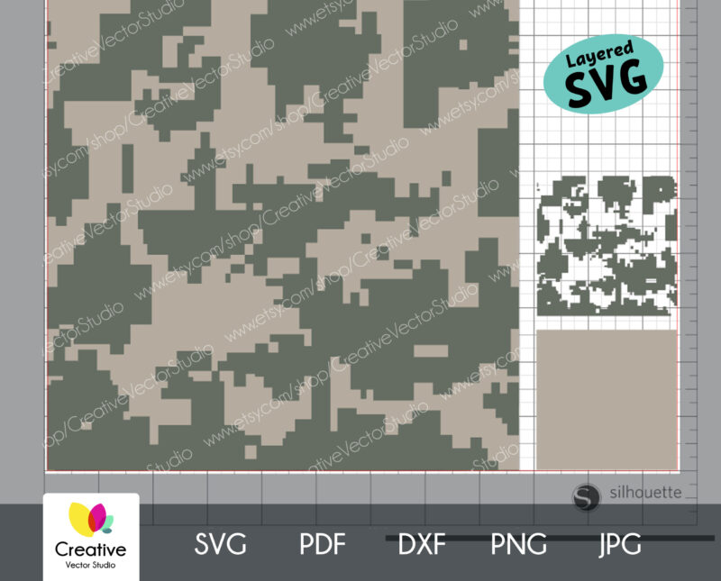 Acupat Camouflage Seamless SVG Pattern