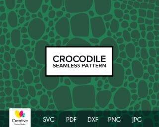 Crocodile Skin SVG Seamless Pattern