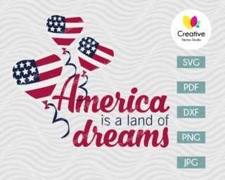 America is a land of dreams svg