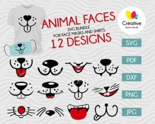 Funny Animal Mouth SVG Bundle