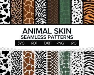 Animal Skin Seamless Pattern SVG Bundle