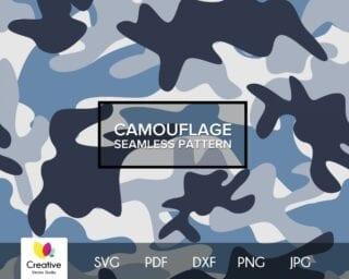 Sky Blue Camouflage SVG