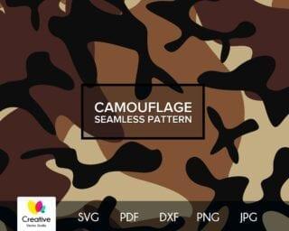 Desert Camouflage SVG Seamless Pattern