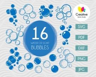Water or Soap Bubbles SVG Bundle