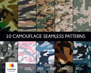 Camouflage Bundle SVG Seamless Patterns