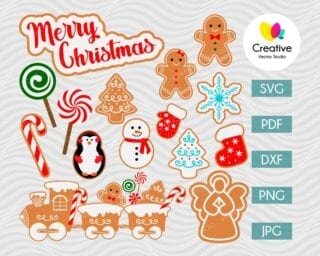 Christmas cookie svg bundle