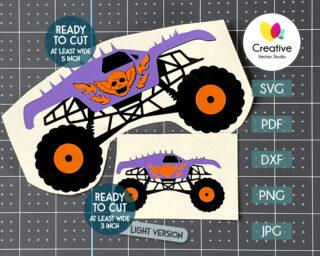 crazy monster truck svg