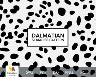 Dalmatian Skin Seamless Pattern SVG