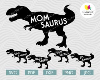 Dinosaur Family svg