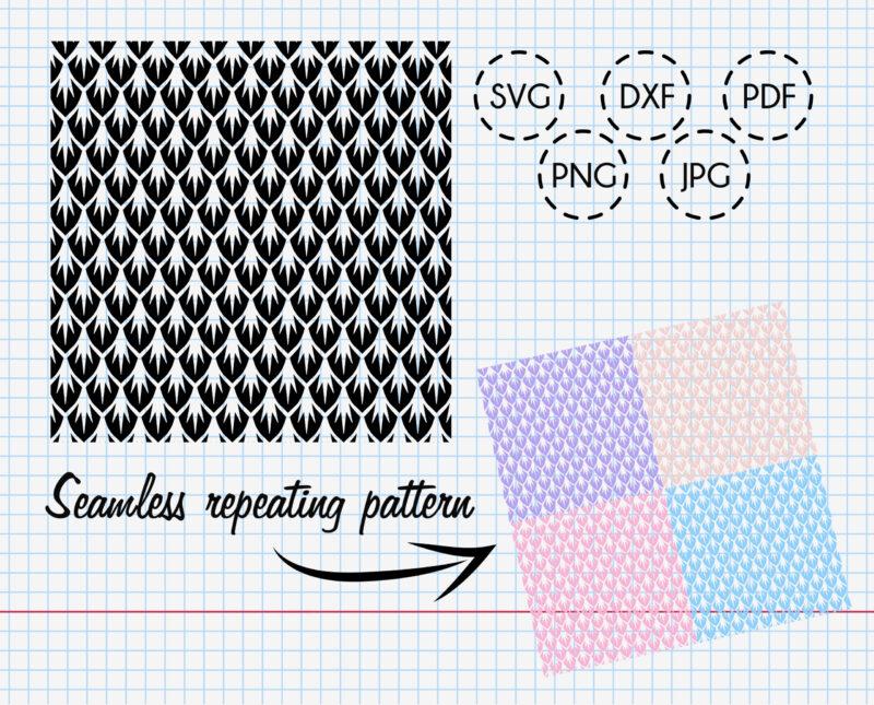 Seamless Dragon Scale Pattern