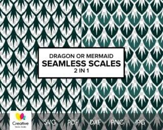 Dragon or Mermaid Scales SVG #1
