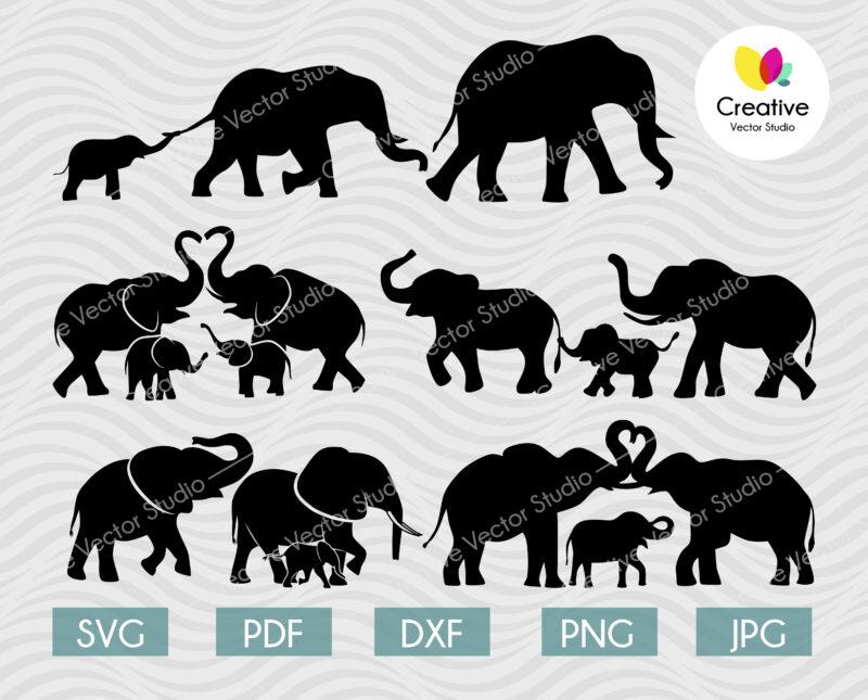 Elephant Family SVG Bundle