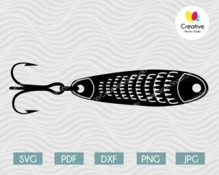 fishing lure svg #7