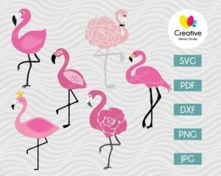 flamingo svg bundle