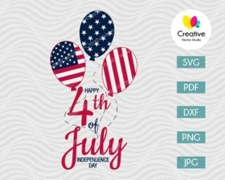 Happy 4th of July Independence Day SVG