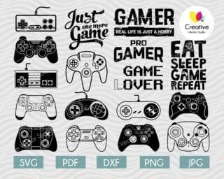 gamer svg bundle