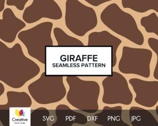 Giraffe Skin Seamless Pattern SVG