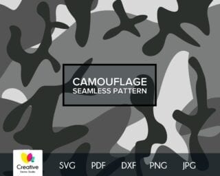 Gray Camouflage SVG Seamless Pattern