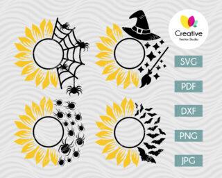 Sunflower Halloween SVG Bundle