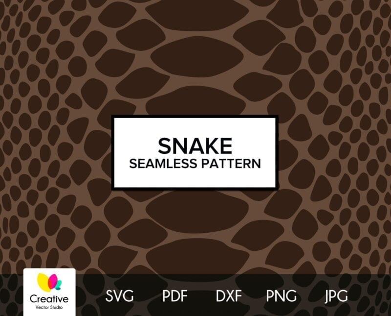 Snake Skin Seamless Pattern SVG