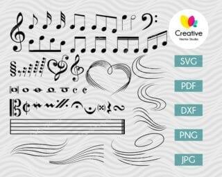 Music Notes SVG Bundle