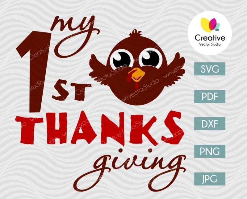 First Thanksgiving Little Turkey svg