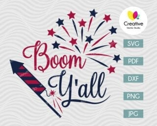 Boom Yall SVG