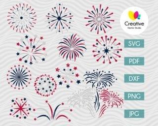 4th of July Fireworks SVG Bundle