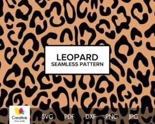 Leopard Skin Seamless Pattern SVG