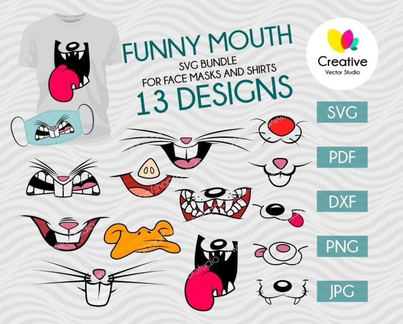 Funny Mouth SVG