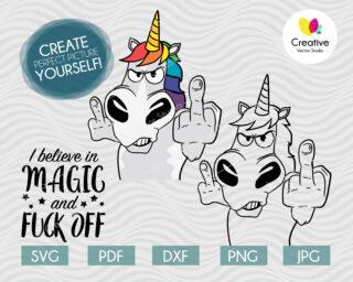 I believe in magic unicorn svg