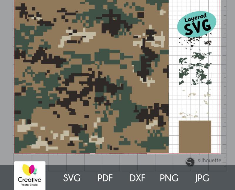 Marpat Camouflage Seamless SVG Pattern