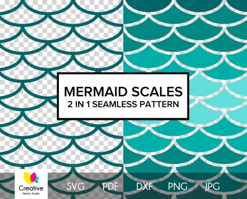 Mermaid Scales SVG Seamless Pattern #1