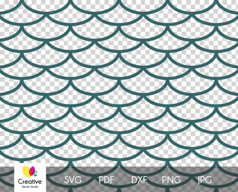 Seamless Patterns svg, Mermaid Scales Pattern svg
