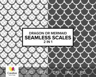 Dragon or Mermaid Scales SVG #2