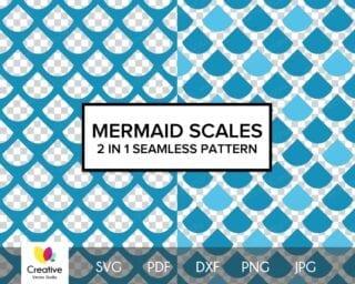 Mermaid Scales SVG Seamless Pattern #4