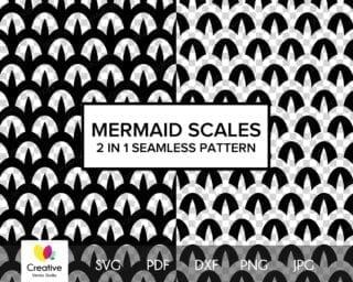 Mermaid Scales SVG Seamless Pattern #3