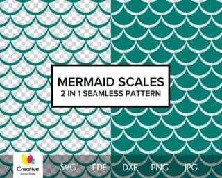 Mermaid Scales SVG Seamless Pattern #2