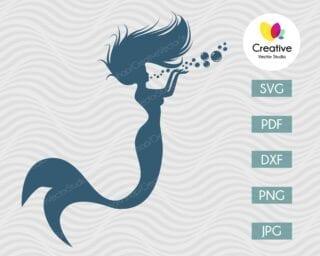 Mermaid Under the Water SVG